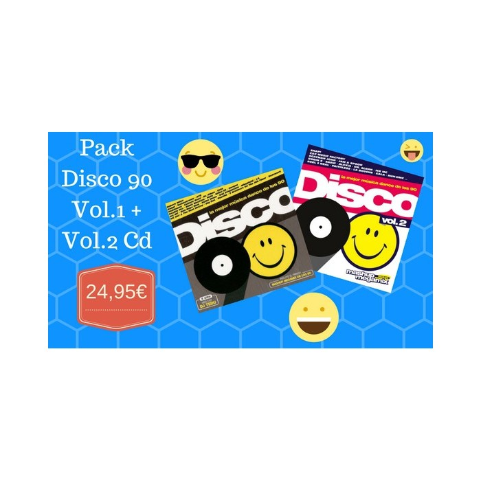 PACK DISCO 90 Vol.1 + Vol.2 CD