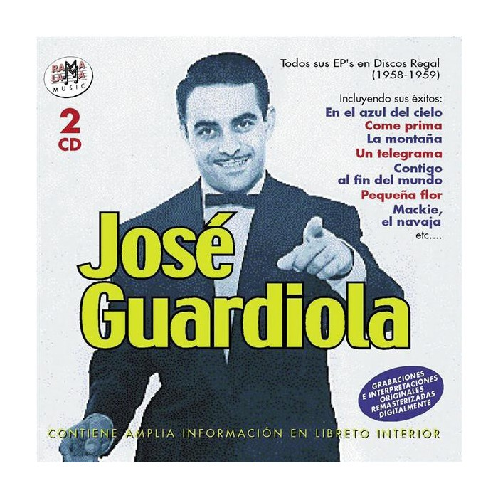 JOSE GUARDIOLA - TODOS SUS EP'S EN DISCOS REGAL (1958-1959)